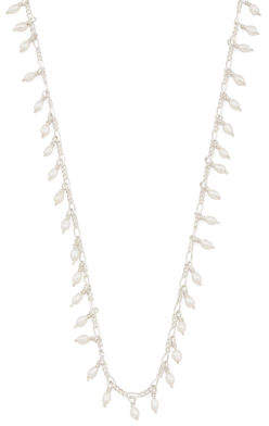 Made In Brazil Sterling Silver Pearl Charm Necklace