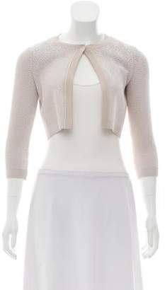 Alaia Cropped Woven Jacket
