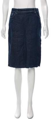 Loro Piana Denim Pencil Skirt