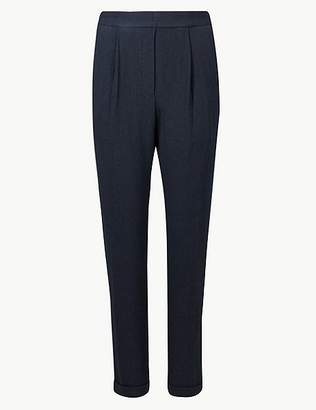 Marks and Spencer Textured Tapered Leg Ankle Grazer Joggers