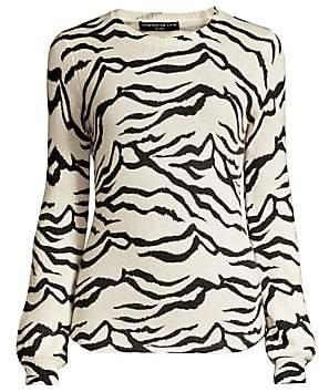 Generation Love Women's Lizzie Zebra-Print Sweater