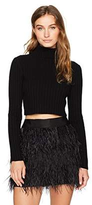 Milly Women's Cashmere Cropped Rib Sweater