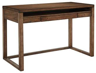Signature Design by Ashley Ashley Furniture Signature Design - Baybrin Small Home Office Desk - Open Shelf - Drop-Down Keyboard Tray - Contemporary - Rustic Brown Finish