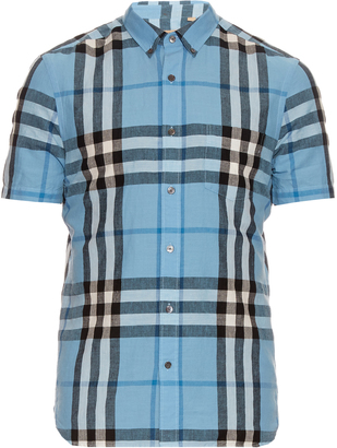 BURBERRY BRIT Short-sleeved house-check shirt $233 thestylecure.com