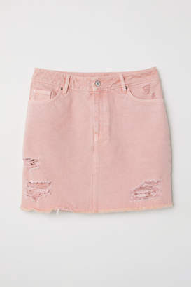 H&M Denim Skirt - Pink