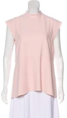 Rebecca Vallance Sleeveless Mock-Neck Top