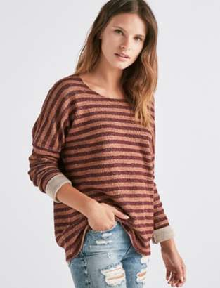Lucky Brand TERRY STRIPE PULLOVER.