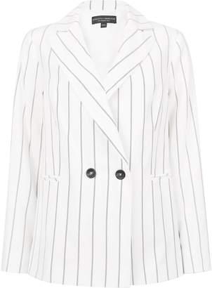 Dorothy Perkins Womens White Pinstripe Blazer