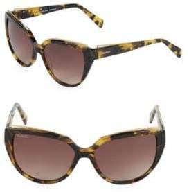 Balmain 57MM Butterfly Sunglasses