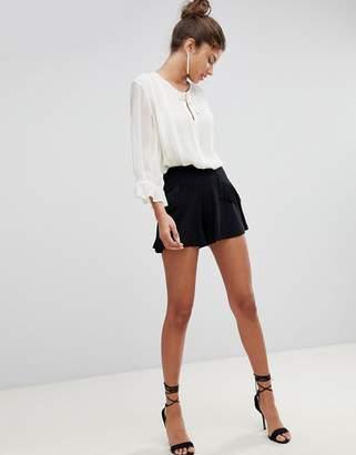 Asos DESIGN Shorts with Fringing Detail