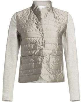 Fabiana Filippi Jersey Sleeve Puffer Jacket