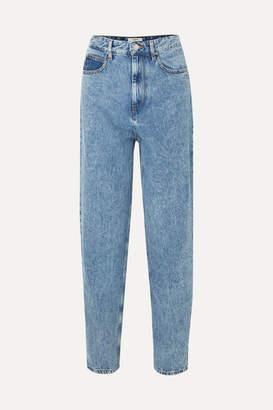 Etoile Isabel Marant Corsyj High-rise Tapered Jeans - Light blue