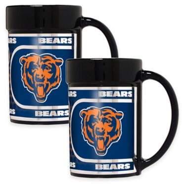 NFL Chicago Bears Metallic Coffee Mugs (Set of 2)