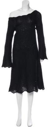CNC Costume National Off-The-Shoulder Midi Dress