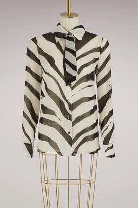 Lanvin Georgette Zebra Blouse