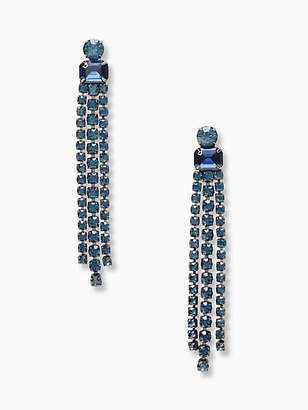 Kate Spade Glitzville fringe earrings