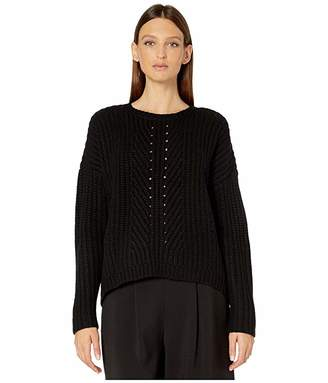 Eileen Fisher Lofty Recycled Cashmere Round Neck Box-Top