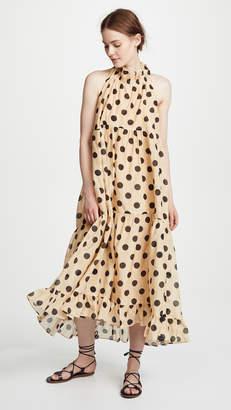 Lee Mathews Minnie Spot Halter Dress