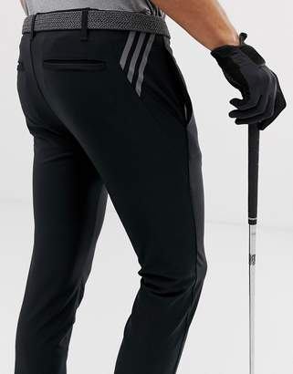 adidas Ultimate 365 3-stripe tapered trousers in black