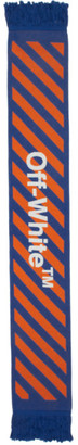 Off-White Off White Blue and Orange Arrows Scarf