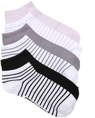 Steve Madden Stripe No Show Socks - 6 Pack - Women's