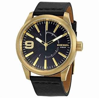 Diesel Men's DZ1801 Rasp Gold Leather Watch