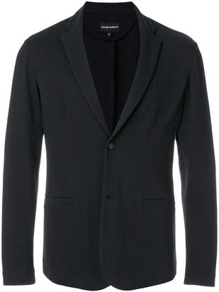 Emporio Armani textured knitted jacket