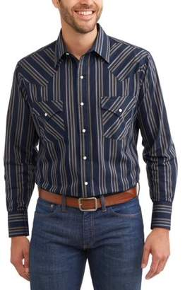 Plains Big and Tall Mens Long Sleeve Stripe Western