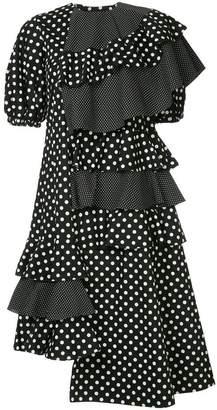 DAY Birger et Mikkelsen Paskal asymmetric polka dot dress