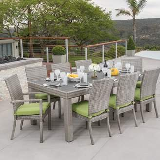 Wade Logan Castelli 9 Piece Dining Set with Cushion