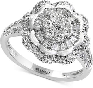 Effy Classique by Diamond Flower Ring (9/10 ct. t.w.) in 14k White Gold