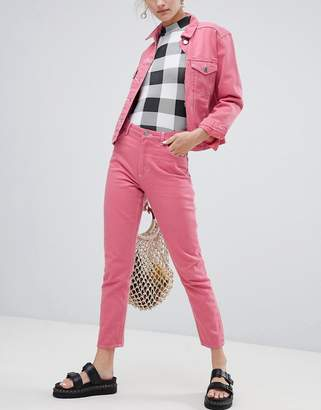 Monki Kimomo Jeans In Pink Co-Ord