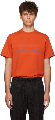 Martine Rose Orange Classic T-Shirt
