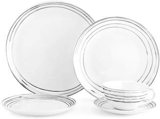 Mikasa Swirl Platinum 20 Piece Dinnerware Set