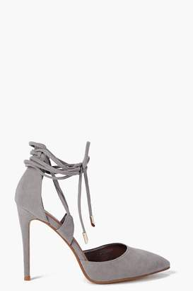 boohoo Pointed Wrap Strap Court Shoes