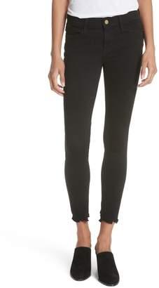 Frame Le Skinny de Jeanne Raw Hem Skinny Jeans (Noir Chew)