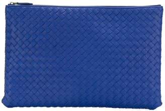 Bottega Veneta cobalt blue Intrecciato nappa large document case