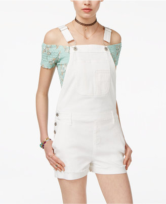 American Rag Juniors' Cuffed Denim Shortalls, Created for Macy's $69.50 thestylecure.com
