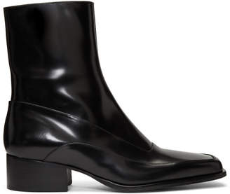 Y/Project Black Fitted Ankle Boots