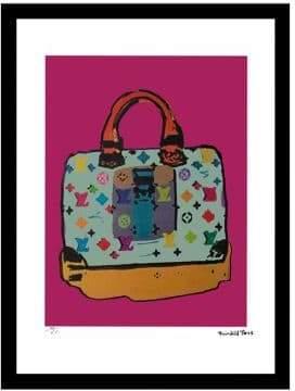 Louis Vuitton Luxe West Blue Murakami Fairchild Paris Vintage Ad Framed Wall Art