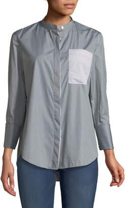 Joseph Callen Mixed-Pinstriped Shirt