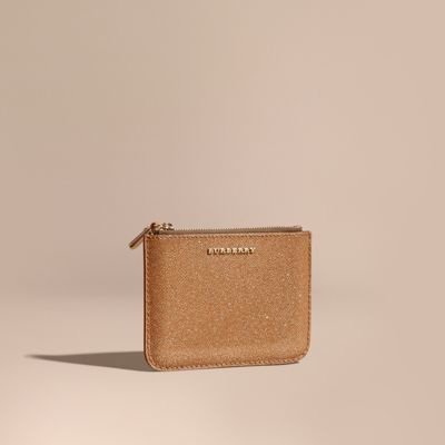 Burberry  Burberry Glitter Leather Pouch