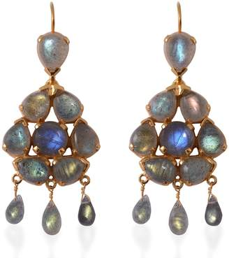 Emma Chapman Jewels Coachella Labradorite Chandelier Earrings