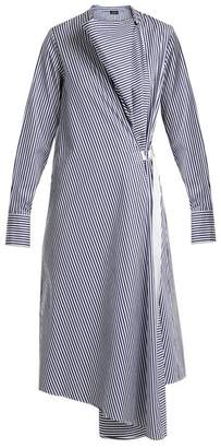 Joseph Arran Striped Cotton Dress - Womens - Blue Stripe
