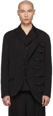 Yohji Yamamoto Black Chest Pocket Blazer