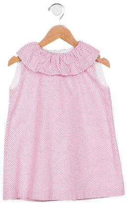 Oscar de la Renta Girls' Polka Dot Sleeveless Dress