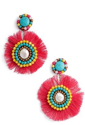 Women's Panacea Fringe Statement Earrings $32 thestylecure.com