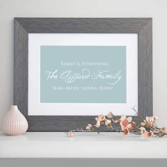 Cherry Pete Personalised Family Is Everything Art Print