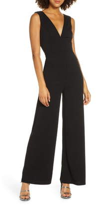 Lulus Ready For It Sleeveless Wide Leg Jumpsuit