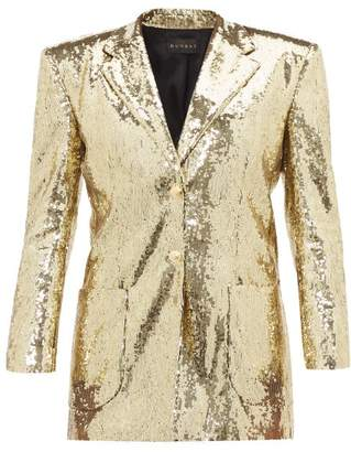 Dundas Sequinned Single Breasted Blazer - Womens - Gold